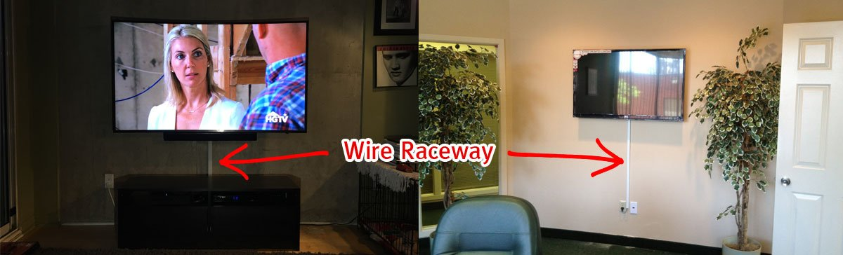 Illustration of Wire Management with Wire Raceway