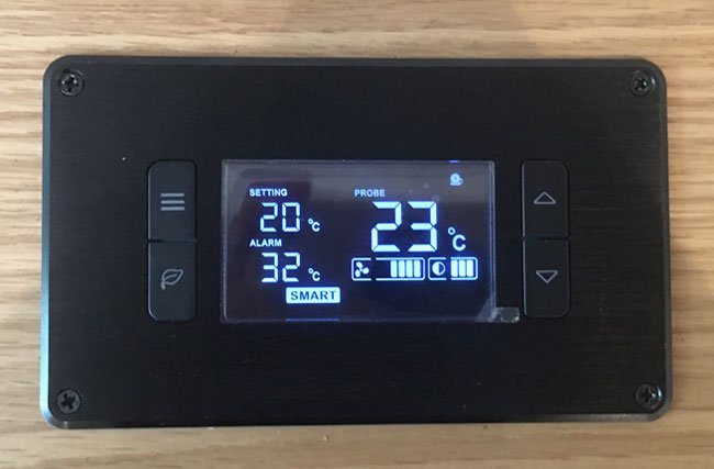 Custom Cabinet Fan Smart Thermostat Installation for Home Theater Components