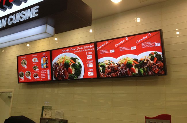 Digital signage screen in final stage