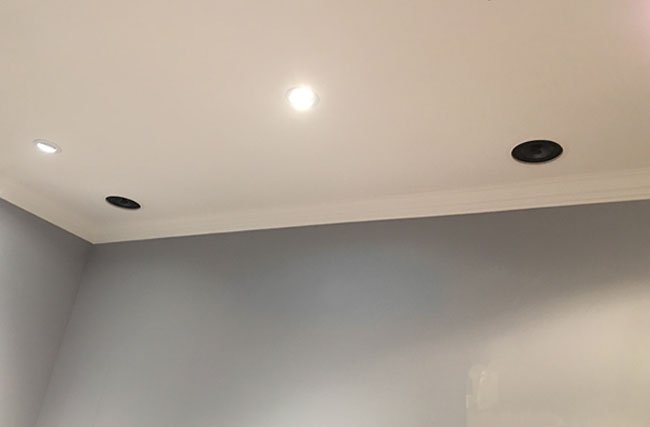 Home Theater In-Ceiling Speaker Installation