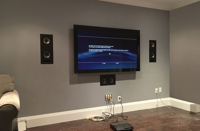 Home Theater In-Wall Speaker Installation