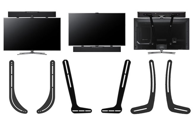 MOUNTING SOUNDBAR TO A TV SITTING ON STAND