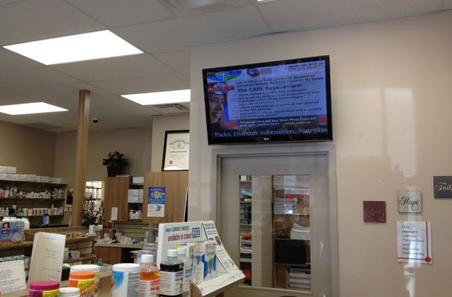 DIGITAL SIGNAGE FOR PHARMACIES