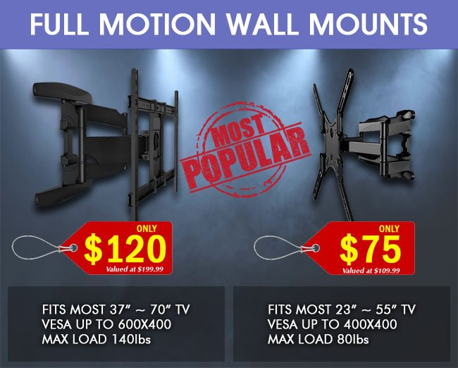 Most Popular Full Motion TV Wall Mounts