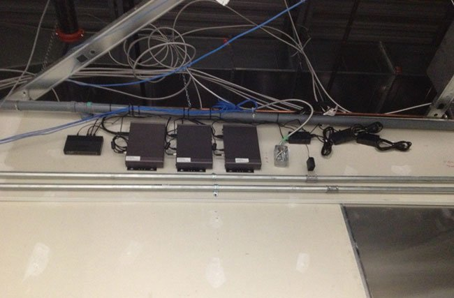 Pre-wiring cables for digital signage during construction phase
