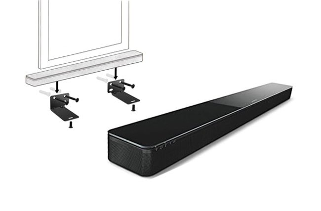 SOUNDBAR MOUNTING USING PROPRIETARY MOUNTING BRACKETS