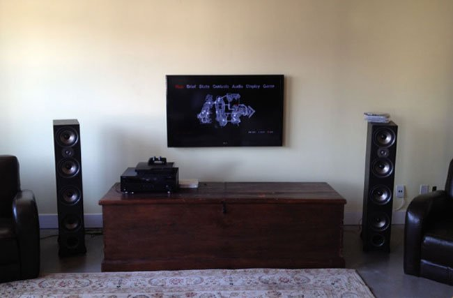 Home Theater Installation with Tower Speakers