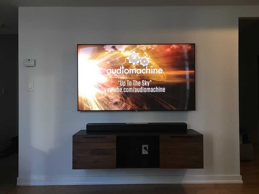 Floating Media Console Wall Mounted Below TV