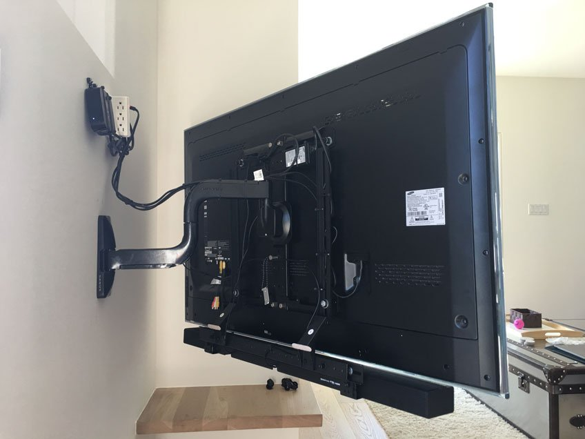 Compatible with Any Full motion TV wall mounts