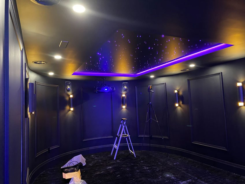 Home Theater Acoustic Ceiling Panel with LED Star Light