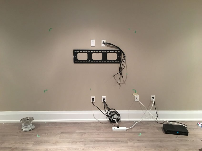 Hiding TV Cables In Wall