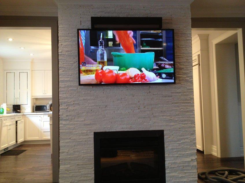 Sonos PlayBar mounted above the TV