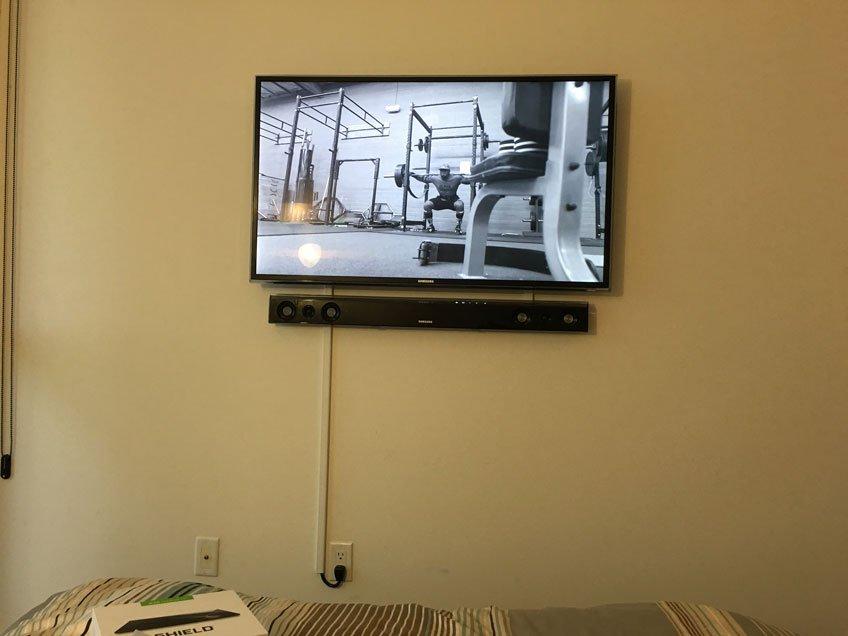 TV & Soundbar wall mounted in condo