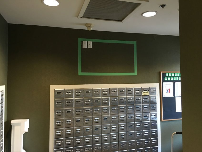 Measure the dimension of your TV & Mark the wall with Masking Tape