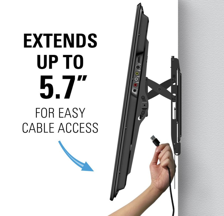 Sanus Advanced Premium Tilt TV Wall Mount - Easy Cable Access Behind the TV