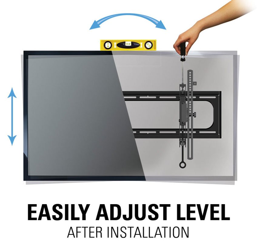 Sanus Advanced Premium Tilt TV Wall Mount - Level Adjustment of even AFTER it's already installed!