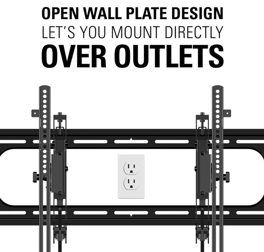 Sanus Advanced Premium Tilt TV Wall Mount - Large Cut-Out / Open Wall Plate Design