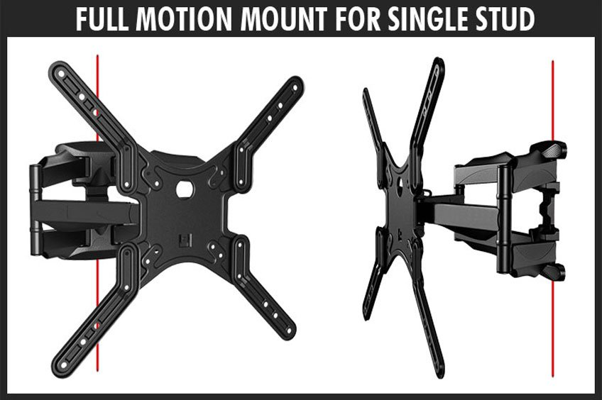 Single Stud Mounting Full Motion Wall Mount