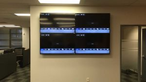 2x2 pattern video wall with 4 televisions for video matrix