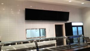 3x1 digital menu board installation in food court