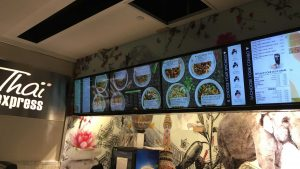4x1 digital signage menu boards installation