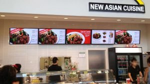 5x1 landscape orientation digital menu board installation with all menus