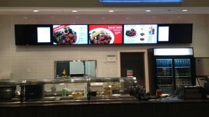 5x1 landscape orientation digital menu board installation