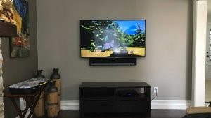 Sonos PlayBar mounted below the TV