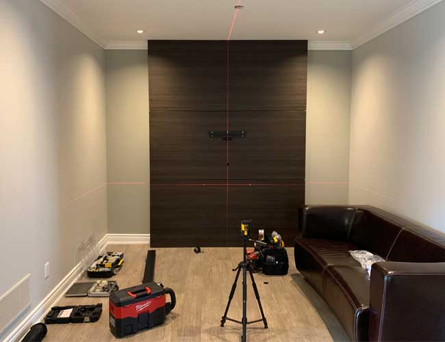 Precision Installation Service with Laser Level Accuracy