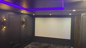 Installation of Tensioned projector screen