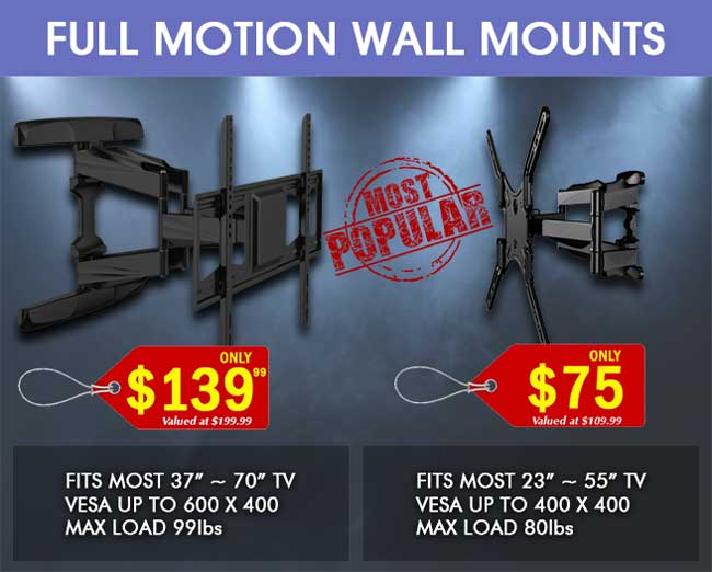 Most Popular Full Motion TV Wall Mounts
