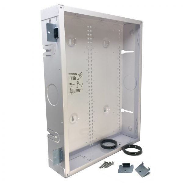 18x14 inch AV Back Box with Mounting Tabs and Grommets