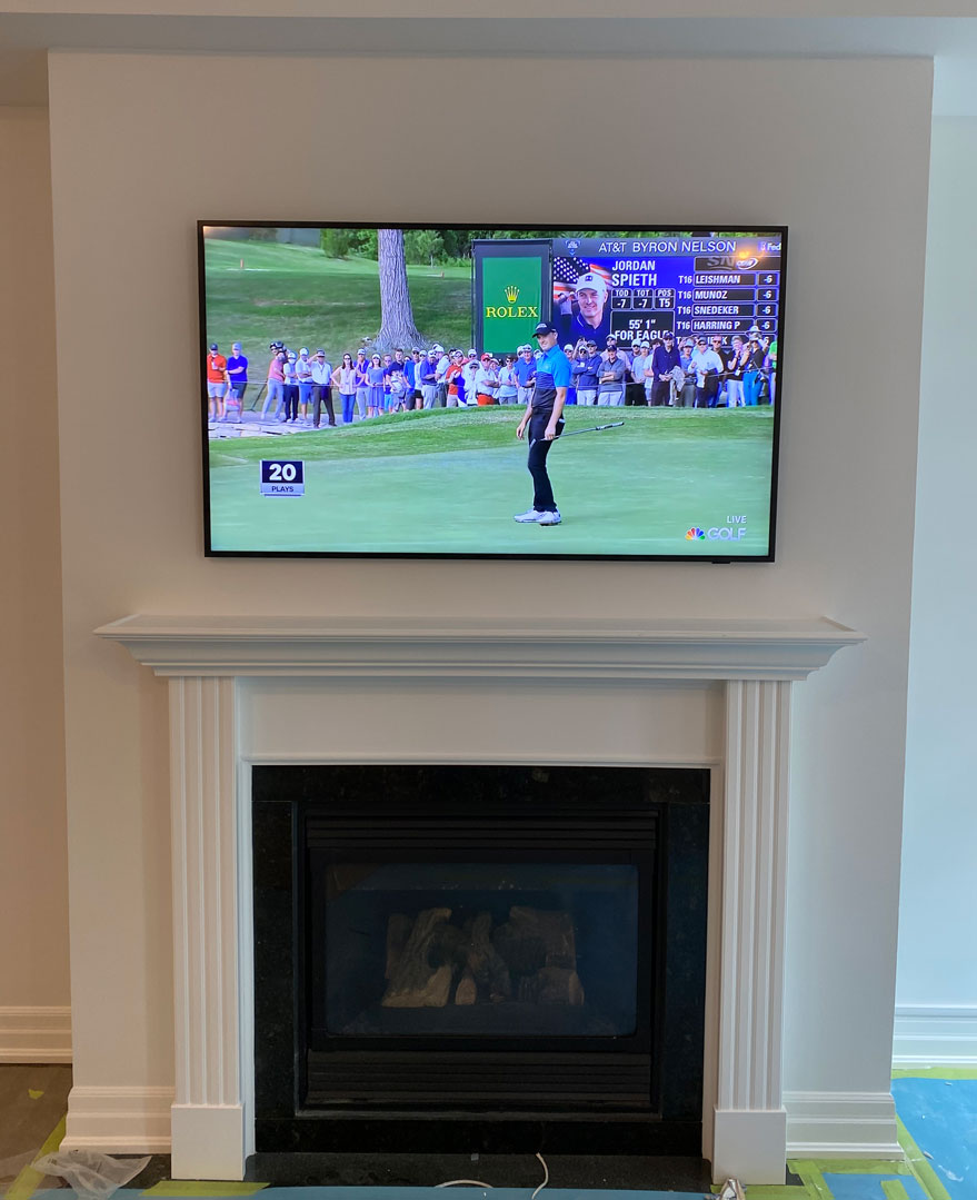 2021 Frame TV Installation with Concealed One Connect Cable