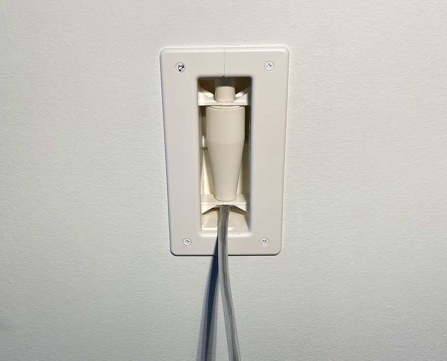 Wall Plate for In-Wall Certified One Connect Cable Entry & Exit Points