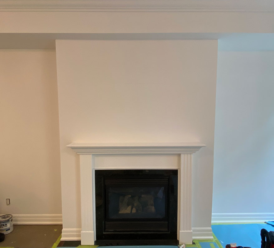 Picture of the plain wall before project began